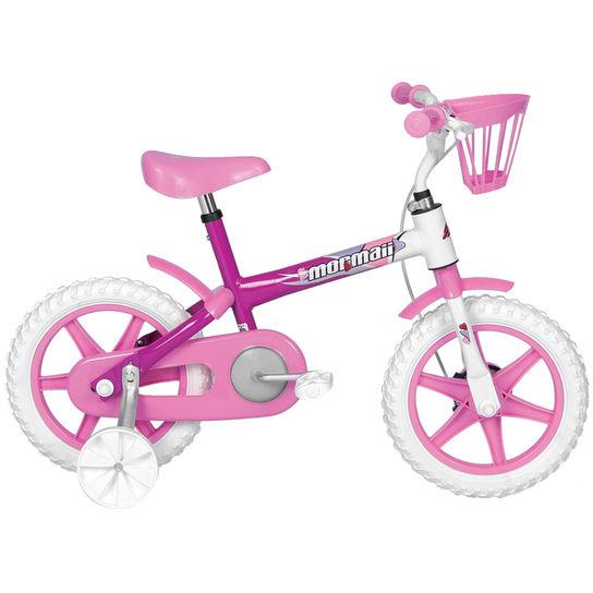 Bicicleta Mormaii Penelope Aro 12 Rígida 1 Marcha - Branco/rosa