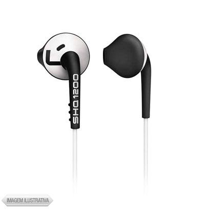 Fone de Ouvido Auricular In Ear Branco e Preto Philips Shq1200wt28
