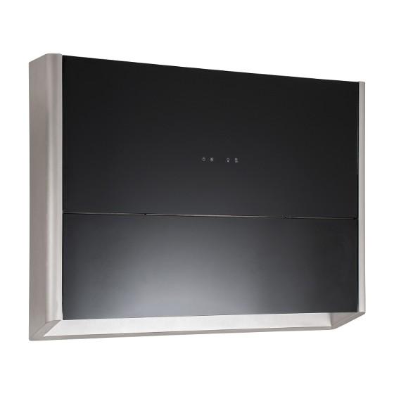 Coifa de Parede Elettromec 80 Cm Finestra Inox - 220v - Com Vidro Preto - Coi Finestra 80x