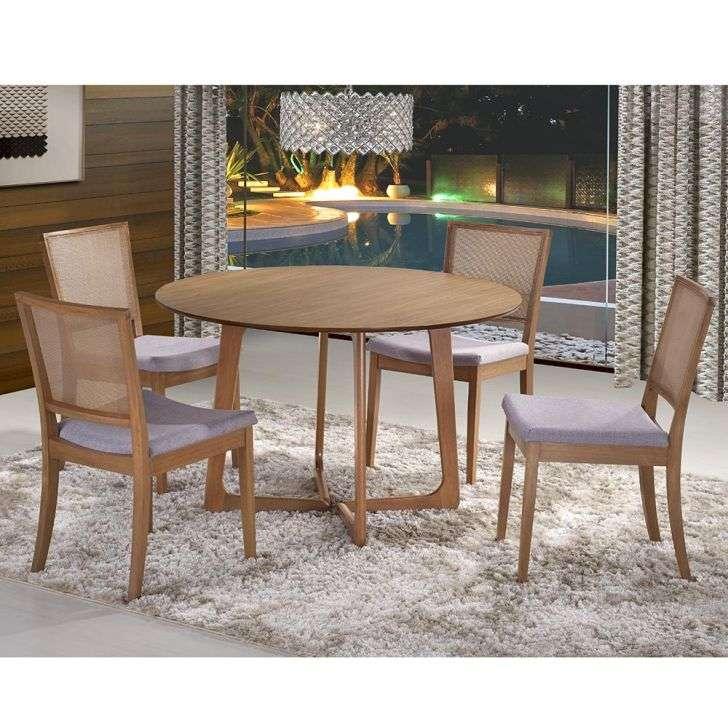Conjunto de Mesa e Cadeira Belle 4 Cadeiras Casa Tema