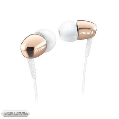 Fone de Ouvido Intra-auricular Silicone Dourado Philips She3900gd27