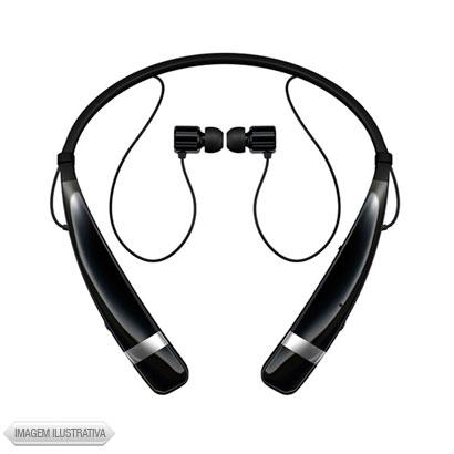 Fone de Ouvido Intra-auricular Sem Fio Com Microfone Preto e Prata Lg Hbs760