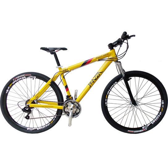 Bicicleta Mazza New Times Vb T21 Aro 29 Susp. Dianteira 21 Marchas - Amarelo
