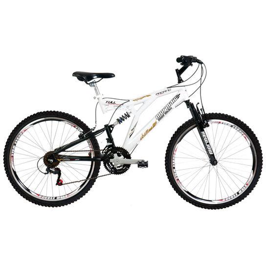 Bicicleta Mormaii Padang Aro 26 Full Suspensão 24 Marchas - Branco