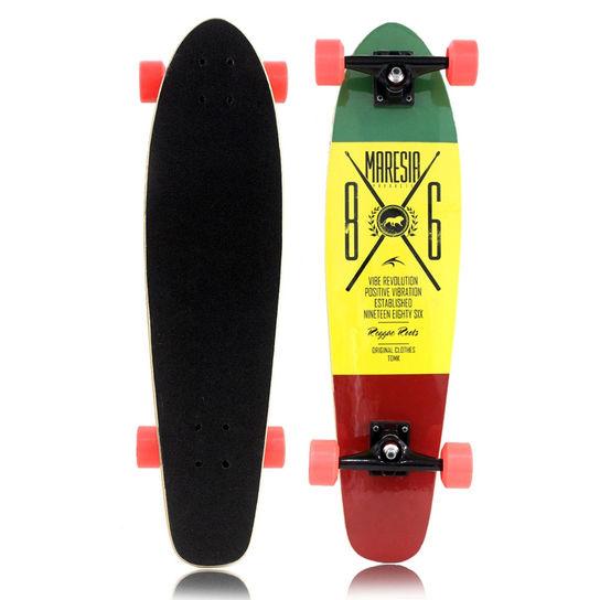 Skate 68000018 Longboard - Reggae Colorido Maresia