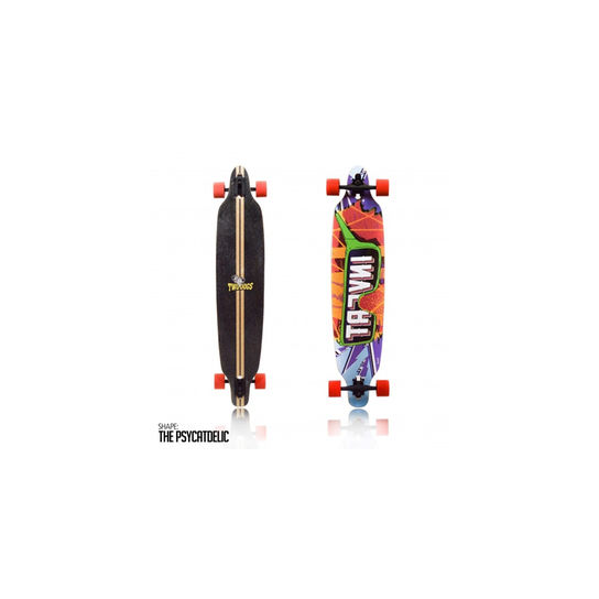 Skate Longboard - Invert D3 Colorido Two Dogs