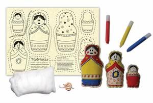 Boneca de Pano Matrioskas para Colorir Alegria Sem Bateria