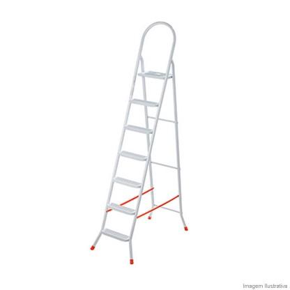 Escada de Aço Doméstica Maxiútil 7 Degraus Ep321 Utimil