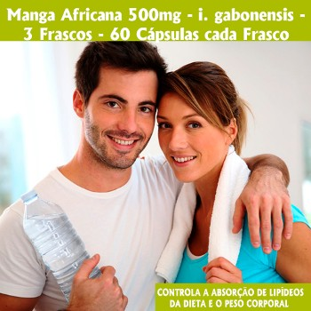 Botânica Tupã Manga Africana 3uni 500mg 60 Cápsulas