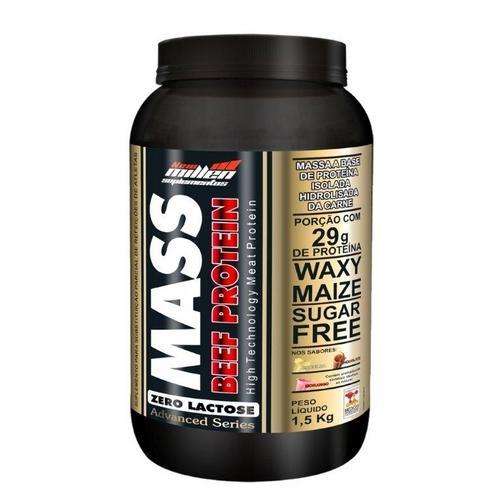 Mass Beef Protein 1,5kg Morango New Millen