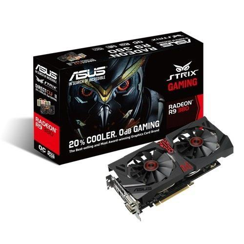 Placa de Vídeo Asus Strix R9 380 2gb Ddr5 R9380-dc2oc-2gd5-gaming