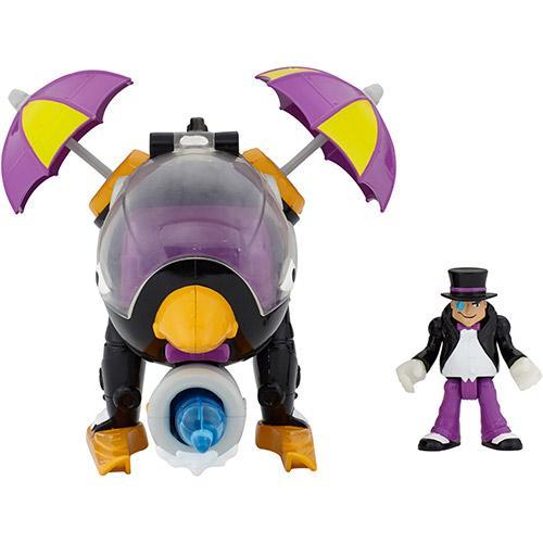 Boneco Imaginext Super Friends Veículo Helicóptero Pinguim Mattel