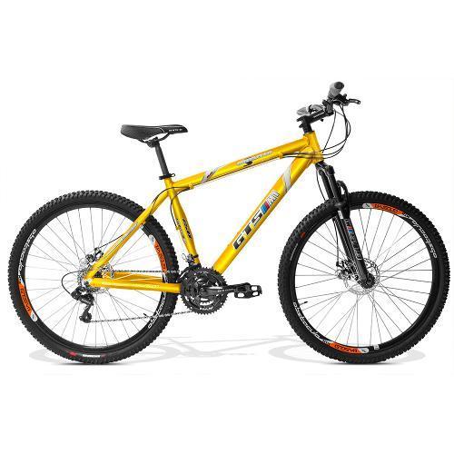 Bicicleta Gts M1 Obstáculo 2.0 T17 Aro 29 Susp. Dianteira 24 Marchas - Amarelo
