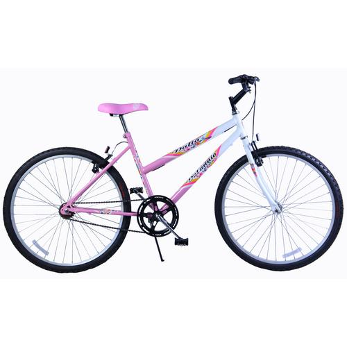 Bicicleta Dalannio Bike Dalia Aro 26 Rígida 18 Marchas - Branco/rosa