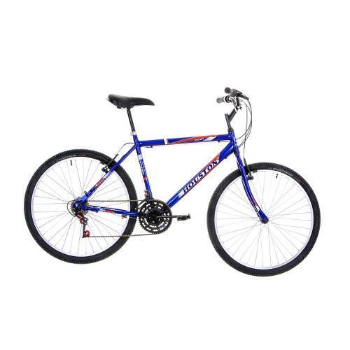 Bicicleta Houston Foxer Hammer Aro 26 Rígida 18 Marchas - Azul
