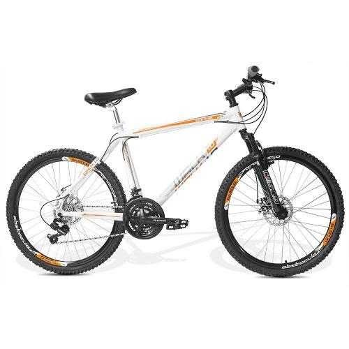 Bicicleta Gts M1 Walk 1.0 Disc T19 Aro 26 Susp. Dianteira 21 Marchas - Branco
