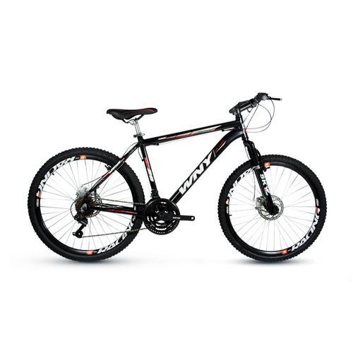 Bicicleta Wendy New Bike Gold Line T19 Aro 26 Susp. Dianteira 24 Marchas - Preto