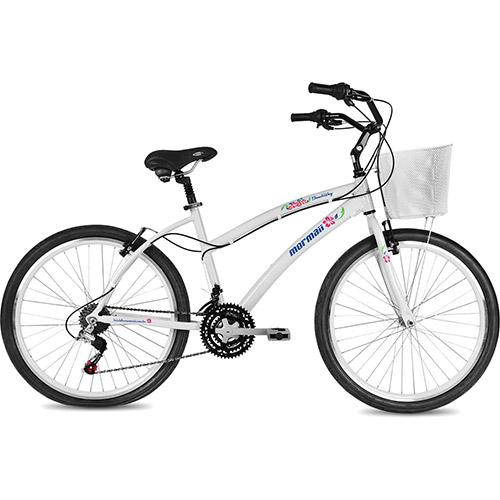Bicicleta Mormaii Beach Way Pro Conforto Aro 26 Rígida 21 Marchas - Branco