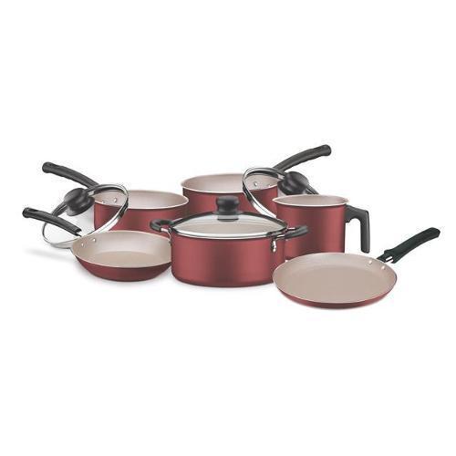 Conjunto de Panela Alumínio Antiaderente Versalhes 6 Peças Vermelho Tramontina 20699785