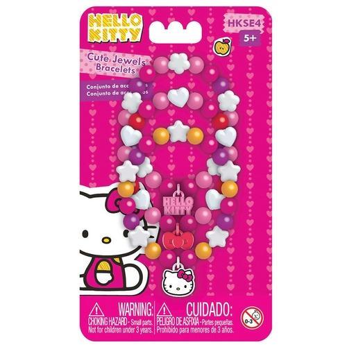 Kit de Acessórios Pulseiras Hello Kitty Hkse4 Intek Toys