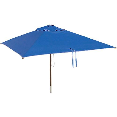 Ombrelone Botafogo Quadrado Sem Abas Madeira - Poliéster Azul 165 Omb0495