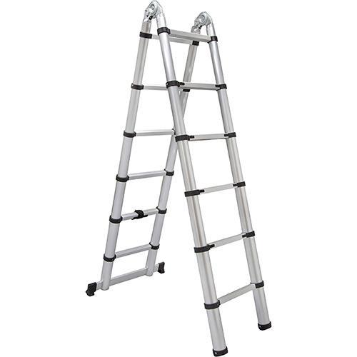 Escada de Alumínio Telescópica Multifuncional 12 Degraus D181630 Evolux