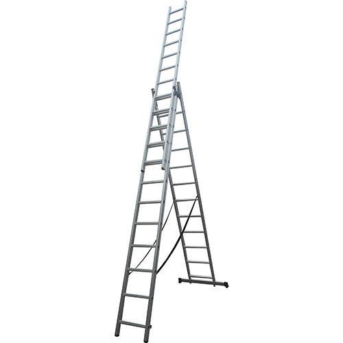 Escada de Alumínio Extensiva Tripla 3x12 36 Degraus D181628 Evolux