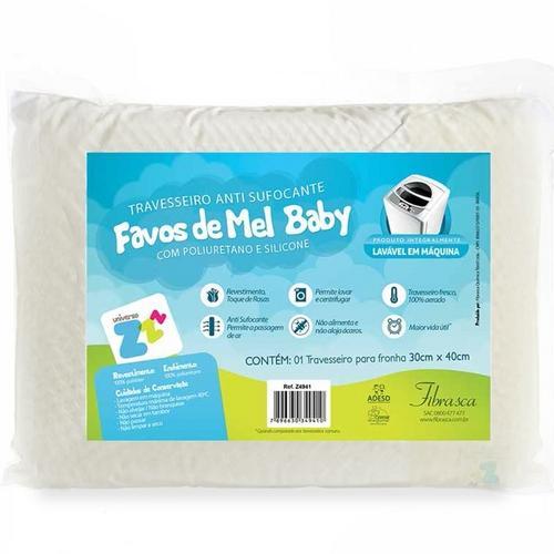 Travesseiro Fibrasca Favos de Mel Baby 100% Poliéster 100% Poliuretano 30x40cm