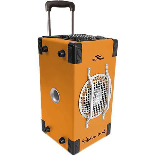 Caixa Acústica Sumay Amplificada - Laranja 60 W Rms Smca02