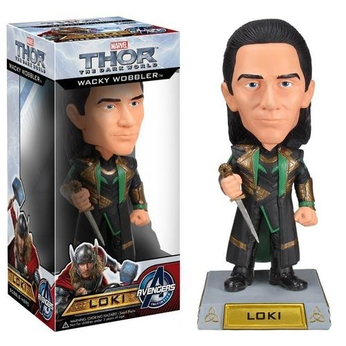 Boneco Loki Bobble Head Wacky Wobbler Avengers Funko