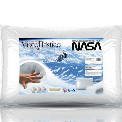 Travesseiro Nasa Baixo 100% Poliéster 100% Poliuretano 50x70cm