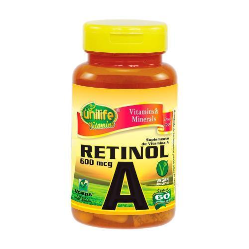 Unilife Vitamina a Retinol 60 Cápsulas