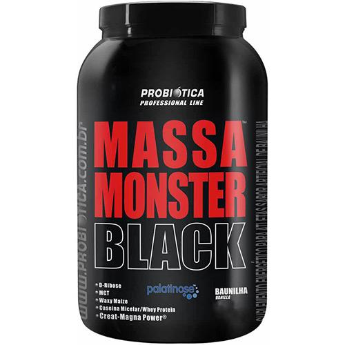 Massa Monster Black 1,5kg Baunilha Probiotica