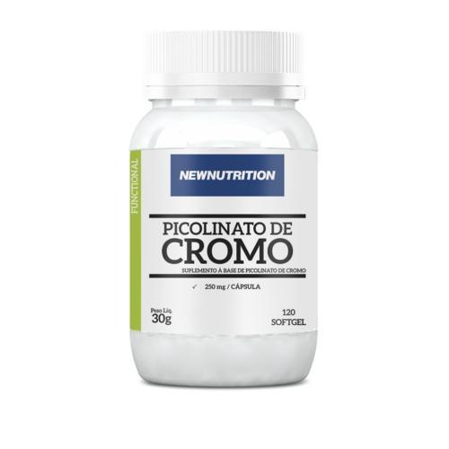 New Nutrition Picolinato de Cromo 120 Softgels