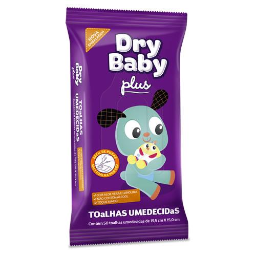 Lenço Umedecido Plus 50 Unidades Dry Baby