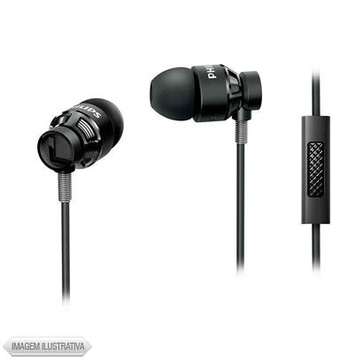 Fone de Ouvido Intra-auricular Com Microfone Preto Philips She5205bk