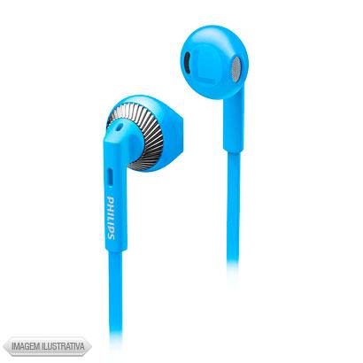 Fone de Ouvido Auricular Azul e Prata Philips She3200bl