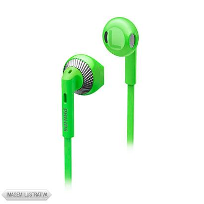 Fone de Ouvido Auricular Verde e Prata Philips She3200gn
