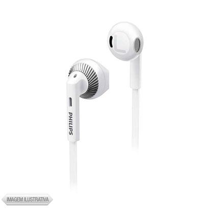 Fone de Ouvido Auricular Branco e Prata Philips She3200wt