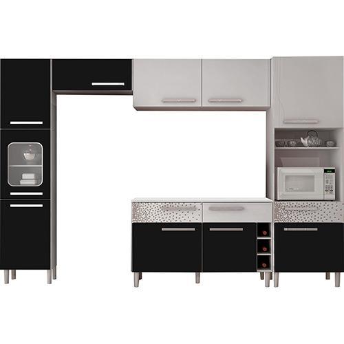 Cozinha Completa Palmeira Móveis Nobilis Kit 7 9 Portas 3 Gavetas