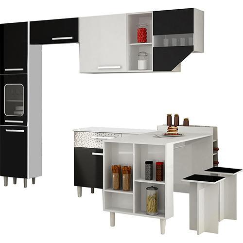 Cozinha Completa Palmeira Móveis Nobilis Kit 5 7 Portas 1 Gaveta
