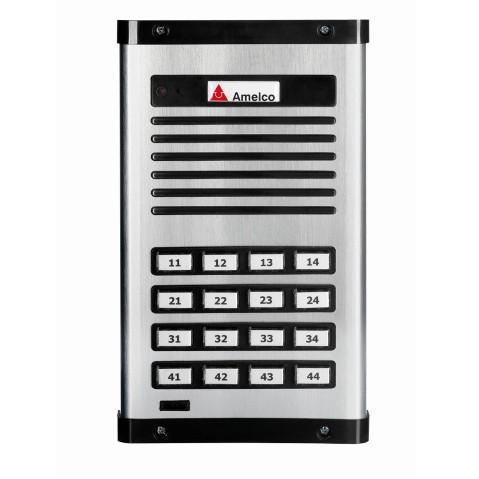 Interfone Porteiro Eletrônico 16 Pontos Amelco - Am-ppr16