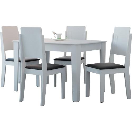 Conjunto de Mesa e Cadeira Diamante 4 Cadeiras Rv Móveis