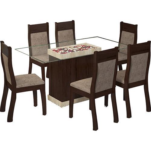 Conjunto de Mesa e Cadeira Egito 6 Cadeiras Viero Móveis