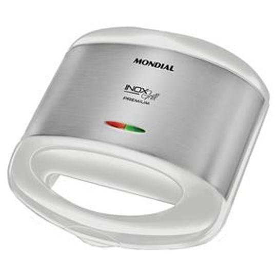 Grill + Sanduicheira Mondial Premium Branco - 220v S17