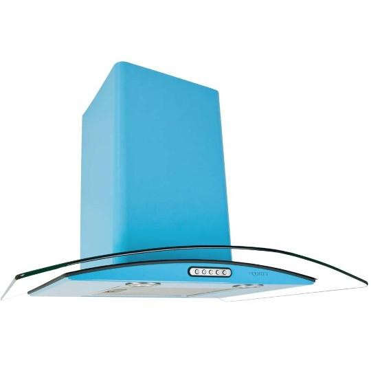 Coifa de Parede Fogatti 70 Cm Curvo Azul - 110v - Com Vidro - Cvc-70
