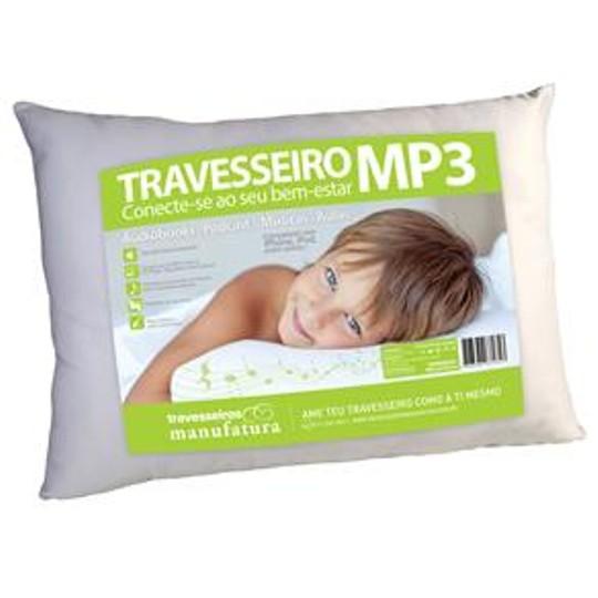 Travesseiro Manufatura Brasil Mp3 100% Algodão 100% Poliéster 50x70cm