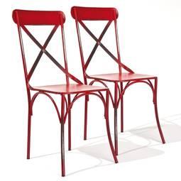 Cadeira Bistro Com 2 Peças Vermelho Interlink