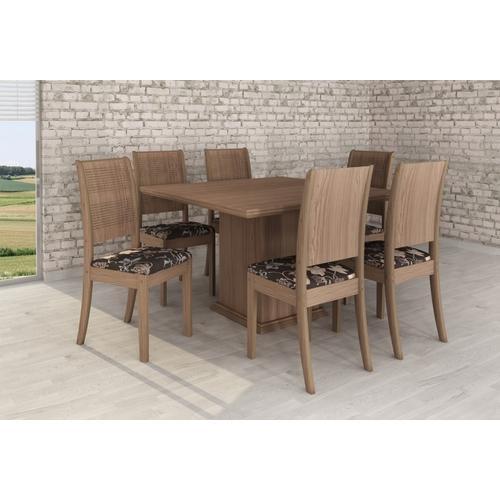 Conjunto de Mesa e Cadeira Mesa Cordoba/ 6 Cadeiras Siena Modocasa