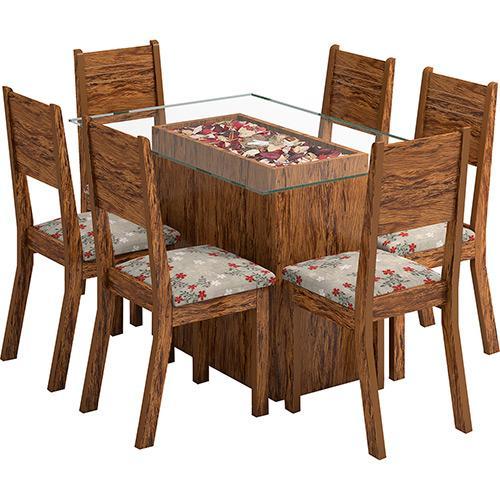 Conjunto de Mesa e Cadeira Monaco 6 Cadeiras Viero Móveis